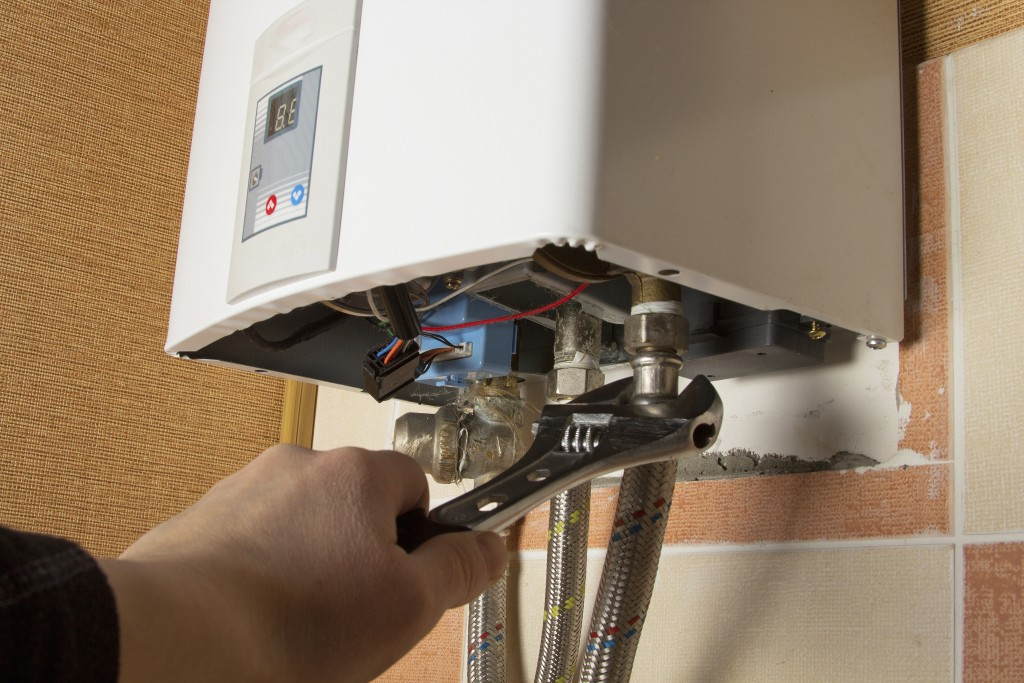 repair of the gas water heater